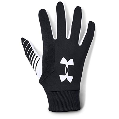 Under Armour Field Player's Glove 2.0, Guanti Uomo, Nero (Black/White/White), S