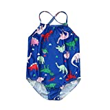 PLENTOP💗 Toddler Girl Bathing Suits 5T One Piece,Baby Alive Swimsuit,Swimsuits for Girls Xs,Girls Athletic Bikini,Girls Bathing Suits 3T Blue