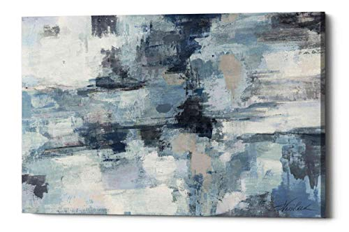 Epic Graffiti in The Clouds Indigo and Grey by Silvia Vassileva Giclee...