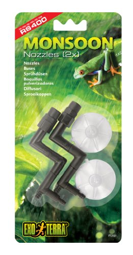 Hagen Exo Terra Nozzles Replacement for Monsoon RS400 High-Pressure Rainfall System 2pcs