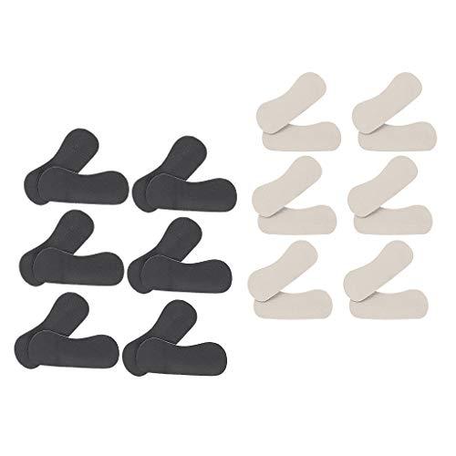 Bonarty 12 Pares de Almohadillas Autoadhesivas para El Talón de Los Hombres Y Las Mujeres, Insertos para El Talón, Almohadillas para Zapatos