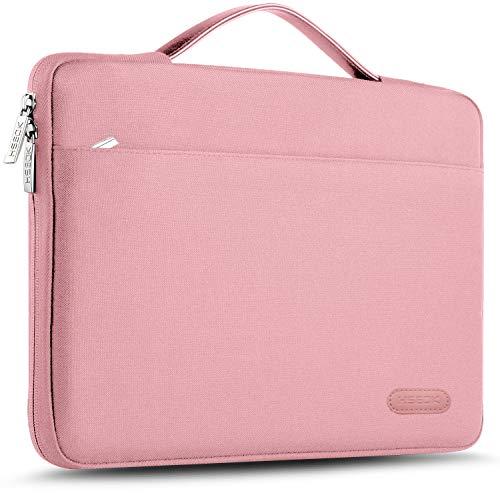 HSEOK 13-13,5 Pollici Borsa Portatile Custodia Protettiva Sottile Impermeabile Ventiquattrore per 13.3  MacBook Air PRO, XPS 13, Surface Book 13,5  e 13 -13,5  Laptops Notebook, Rosa Nera