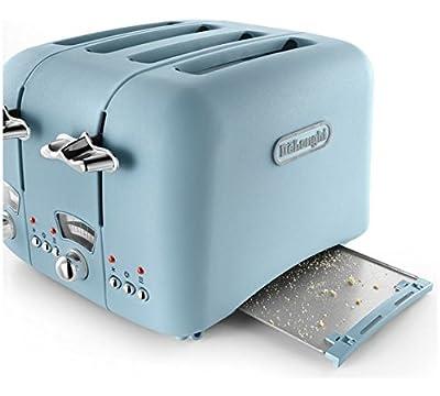 De'Longhi CTO4 Argento Flora 4-Slice Toaster 1800W