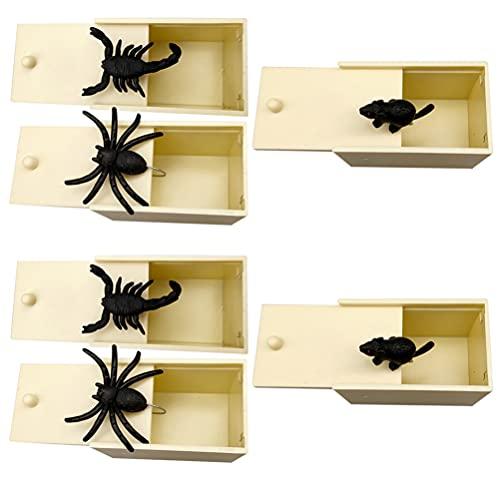 ifundom Falso Spider Halloween Prank Giocattoli Artificiale Mouse Ragni Insetti Scorpione Regali per Halloween ( Beige 6Pcs )