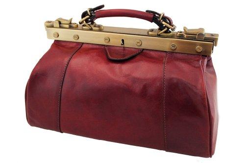 Katana Sac Diligence Cuir de Vachette Collet K 8250 Rouge