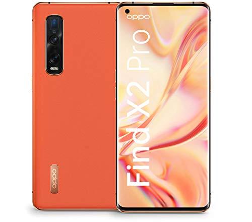 OPPO Find X2 Pro Smartphone (17 cm (6,7 Zoll)) 512 GB interner Speicher, 5G, 12 GB RAM, 4260mAh mit 65W Blitzladen, 120 Hz Milliarden-Farben Bildschirm, Ultra-Vision-Kamera-System, veganes Leder - Orange