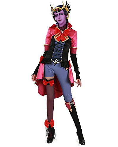 miccostumes Women's Magical Girl Widowmaker Cosplay Costume with Headwear (Women m) Pink