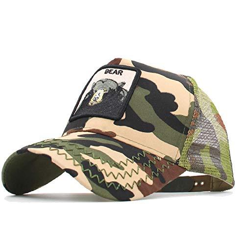 YDXC Cap Mens Bordado Verano Trucker Cap Mesh Snapback Hip Hop Sombrero de béisbol Bordado Animal al Aire Libre Sun Hats colección se aplican a la Pesca de Running etc-33