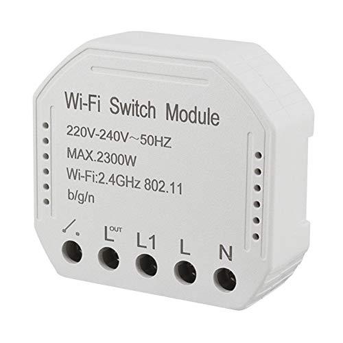 WiFi Smart Light Switch Modulo interruttore fai-da-te Smart Life Tuya APP Telecomando, Lavorare con Alexa Echo Google Home (1c switch)