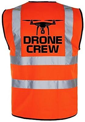 Drone Crew QUADCOP Hi-Vis Hi-Viz Visibility Safety Vest/Waistcoat Yellow/Orange