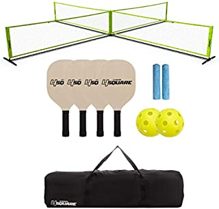 Triumph Sports 4 Square Volleyball/Badminton Combo and Pickleball Combo Accessories Included - Multiple Styles Available