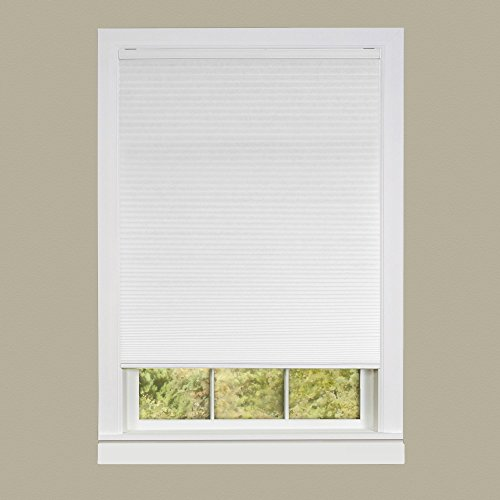 Achim Home Furnishings Honeycomb Pleated Cordless Window Shade, 31 by 64-Inch, White