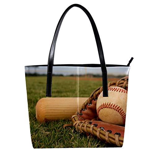 LORVIES Baseball Sport Ball - Bolso bandolera de piel sintética y bolso de mano para mujer