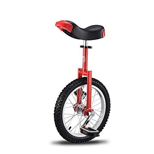 Sxfcool Einzelnes Rad Acrobatic Gleichgewicht Auto Einrad Fahrrad Kind Erwachsene 16 Zoll,Rot