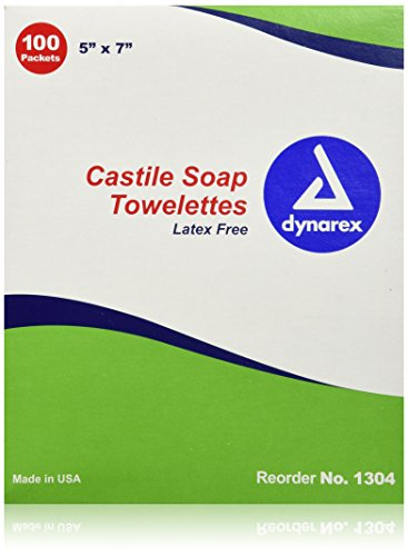 Alimed Castile Soap Towelette, Saturated with 2% Castile Soap