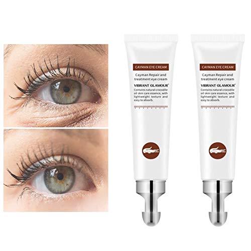 2 Pcs Magic Eye Cream-28 secondes pour enlever les sacs pour les yeux Anti-vieillissement Eeye Cream pour les cernes, les poches, les rides et les sacs 20g