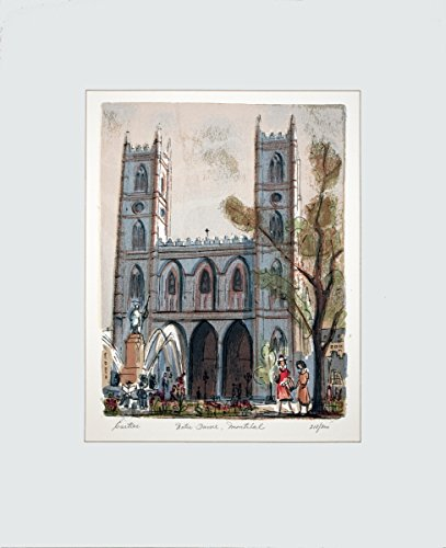 """Price comparison product image CARTIER Roger Rue Notre Dame,  Montreal Signed 19.5"""" x 15.5"""" Lithograph Contemporary Multicolor"""