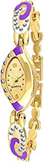 New Raiyaraj Embroidery Women's and Girl's Analogue Gold Dial Watch