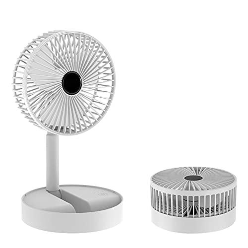 PW TOOLS Ventilador de Escritorio, Ventilador Plegable Ventilador portátil, Altura de pie Ajustable Ventilador de pie, batería Recargable Mini Ventilador USB para el hogar al Aire Libre y la Oficina