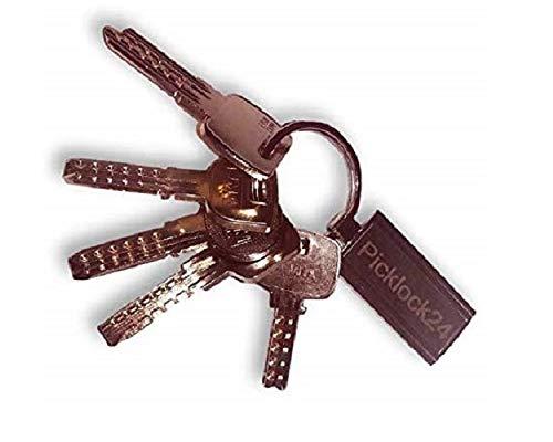 Picklock24 Juego de llaves maestras multipunto válidas para cerraduras de España II