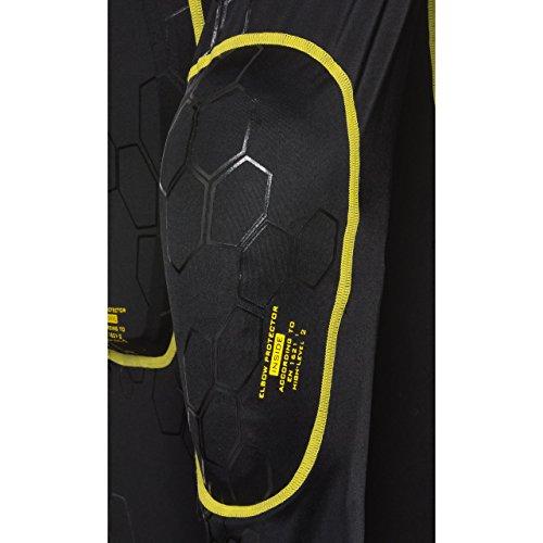 Safe Max® Protektorenjacke Motorrad Protektorenhemd Unterziehjacke mit Protektoren, Level 2, extrem funktional, Schulter-, Ellbogen- und Rückenprotektor, luftig, atmungsaktiv, Schwarz, XL - 2
