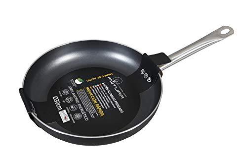 Sarten Aluminio– 30 cm Mango Acero – Aluminio Forjado - Gas, Vitro,...