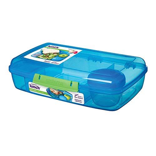 Sistema Bento Lunch Box mit Obst/Joghurt Topf, mehrfarbig, Riegel Liter ( Farblich sortiert )
