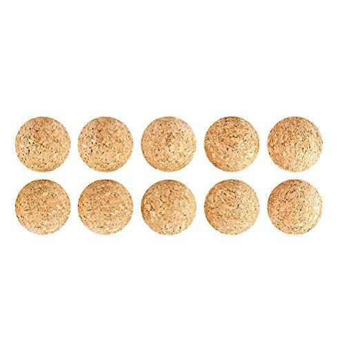 LIOOBO Table Soccer Foosballs Game Replacement Tabletop Mini Cork Football Balls 3.15cm 10pcs