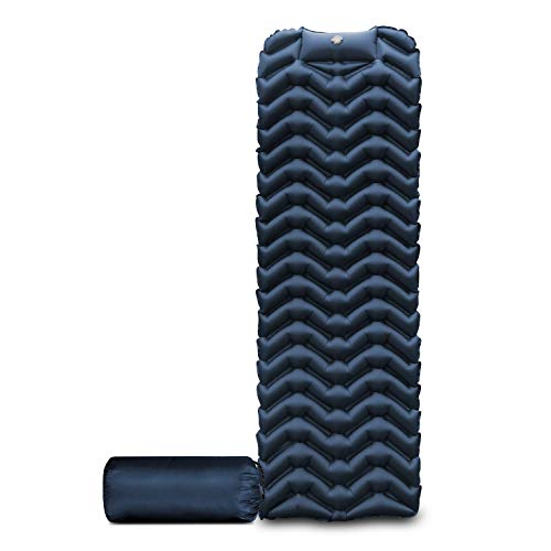 HETUAF Camping Sleeping Pad Built-in Inflatable Pump Foot Press Lightweight Compact Sleeping Pad for...