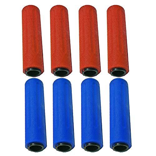 Roberto Sport Calcio Balilla Otto (8) manopole Originali Professional per aste Diametro mm.18 Colori Rosso, Blu