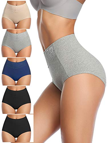 PostPartum Underwear for Women, High Waisted Women's Briefs Cotton Panties for Women Full Coverage for C-Section