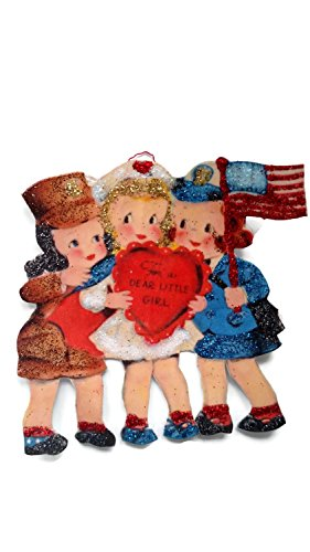 Valentine's Day Card Ornament Decoration Military Girls American Flag Handmade Gift