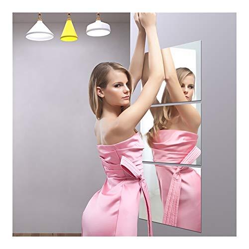 XINF Decoratieve Spiegel Stickers Zelfklevende Spiegeltegels, Wandspiegel Voor Badkamer Stick Op Tegels Spiegel, Slaapkamer Behang Plakken Kunst Spiegelen Voor Crafting,(0.2mm, 20x20 Cm)