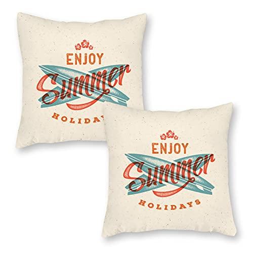 76DinahJordan Etro Style - Federa per cuscino estiva, 45 x 45 cm, confezione da 2 pezzi, stile rustico moderno e divertente per decorare divani e sedie da giardino