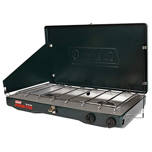 Coleman Gas Stove | Portable Propane Gas Classic Camp Stove with 2 Burners (2 Set, Green)