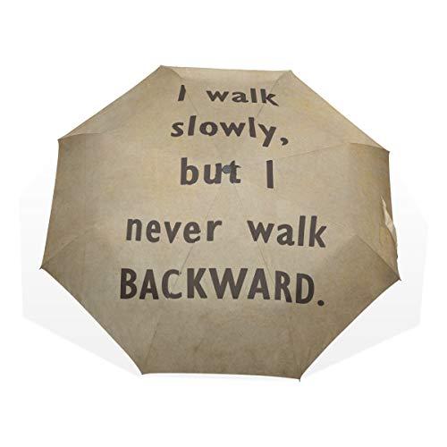 Compact Mens Umbrella Inspirational Motivation Zitat 3 Fold Art Umbrellas (außerhalb Druck Niedliche Regenschirm Reise Kinder Regen Regenschirm Jungen Regenschirm Sonnenschirm