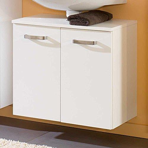 Pharao24 Waschbeckenunterschrank in Weiß zum hängen