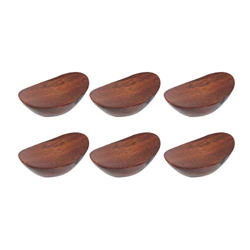 UPKOCH - 6 Palillos de Madera con Forma de lingote, Tenedor de Cuchara, Tenedor, Soporte para decoración de Mesa para Fiestas o Banquetes