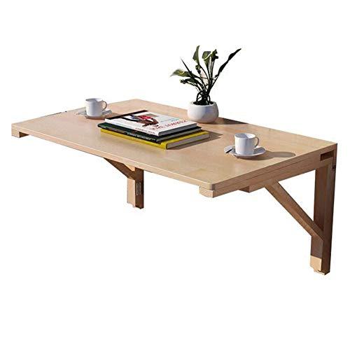 PENGFEI Väggmonterad bord bärbar dator stativ skrivbord vägg bord kök bänkskiva multifunktion arbetsskrivbord, furu, flera storlekar (färg: Träfärg, storlek: 100 x 50 x 40 cm)