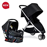 Britax USA B-Lively Travel System with B-Safe 35 Infant Car Seat, Ashton - Birth to 55 Pounds