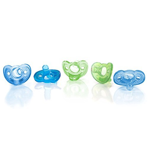 The First Years Gumdrop Newborn Pacifiers, Blue/Green, 5-count by The First Years (English Manual)