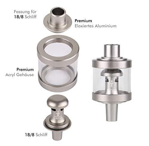 Camo Shisha Aryl Molassefänger Grau 18/8 Schliff eloxiertes Aluminium Wasserpfeife Hookah 2020 Zubehör
