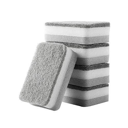 SqSYqz Esponja de fregado Resistente a los olores de 25 Piezas, Esponja de fregado de celulosa de Alta Resistencia, Esponja para Lavar Platos de Doble Cara para Cocina