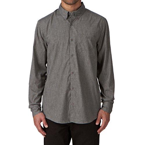 DC Shoes Chamber - Chemise habillée - Coupe droite - Col chemise classique - Manches longues - Homme - Gris (Grey) - X-Large (Taille fabricant: XL)