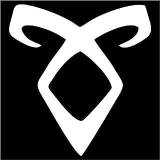 CCI Angelic Power Rune Shadowhunters Decal Vinyl Sticker|Cars Trucks Vans Walls Laptop|White |5.5 x 5.5 in|CCI1874