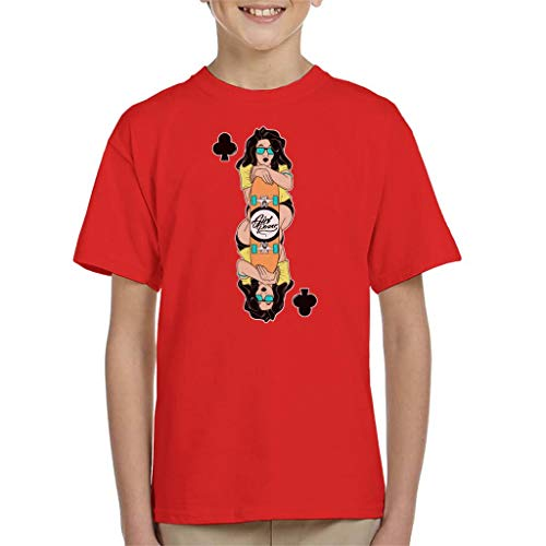 Cloud City 7 Skater Meisje Speelkaart Kinder T-Shirt