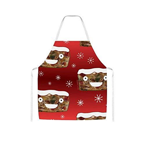 Einstellbarer Schürzen Kochen Wasserdicht Schürze Geschenk for Frauen Männer Chef-Küche Crafting Grill Zeichnung Backen, Halloween Schwarz Orange und Weiß Plaid BTZHY (Color : Style9)