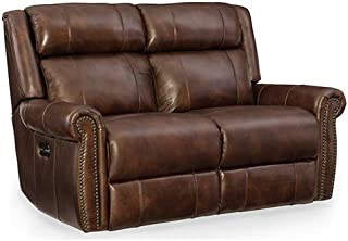 Hooker Furniture Esme Leather Power Motion Loveseat in Chocolate