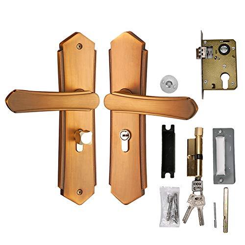Tür-Sicherheitsschloss aus Zinklegierungsmaterial, Griffschloss, Türhebel-Verriegelungsschloss mit passenden Schlüsseln für Holztüren Wohnzimmertüren