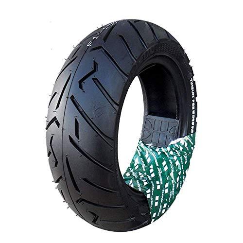 Neumáticos De Scooter Eléctrico 130/70-10 Neumáticos De Vacío Antideslizantes Resistentes Al Desgaste Versión Mejorada con Patrón Más Profundo Adecuado para Accesorios De Motocicletas Eléctricas,